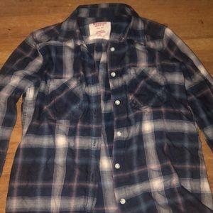 boyfriend fit flannel shirt
